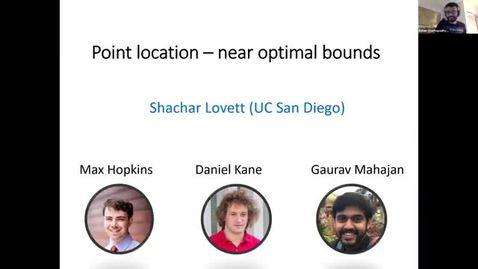 Thumbnail for entry 10.12.20 Theory Seminar - Fall 2020 Shachar Lovett, UC San Diego