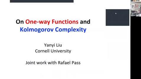 Thumbnail for entry 10.20 Theory Seminar - Fall 2020: Yanyi Liu, Cornell University
