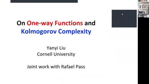 Thumbnail for entry 10.19.20 Yanyi Liu, Cornell University