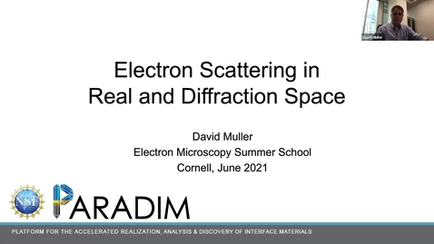 Thumbnail for entry PARADIM  Electron Microscopy Summer School Public Lectures 2021 - Diffraction
