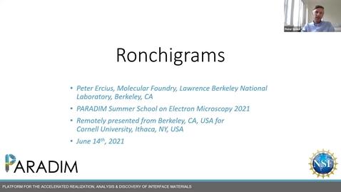 Thumbnail for entry PARADIM  Electron Microscopy Summer School Public Lectures - Ronchigrams