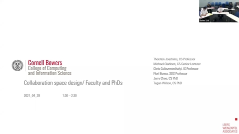 Thumbnail for entry CIS - Collaboration Space Design Focus Group (Faculty/PhD) meeting