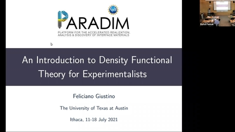 Thumbnail for entry PARADIM DFT Summer School 2021 - Lecture 4.1 - Phonons in DFT