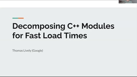 Thumbnail for entry SOIL Seminar: Decomposing C++ Modules for Fast Load Times