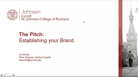 Thumbnail for entry The Pitch: Establishing your Brand