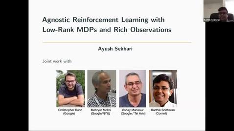 Thumbnail for entry 4.2.21 AI Seminar - Spring 21: Ayush Sekhari