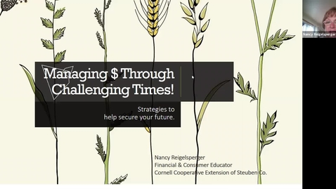 Thumbnail for entry Managing Money in Challenging Times