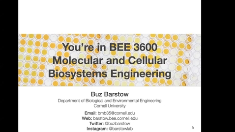Thumbnail for entry BEE 3600 Lecture 16 Video