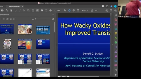 """Thumbnail for entry Hot Materials talk: """"How wacky oxides have improved transistors."""""""