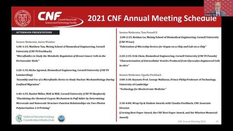 Thumbnail for entry 2021 CNF Virtual Annual Meeting, Video 2; Keynote Prof. Debdeep Jena