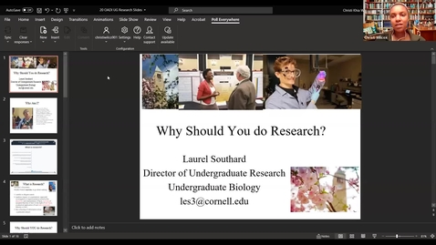 "Thumbnail for entry TLE: ""Getting Involved in Undergraduate Research"" - Laurel Southard"