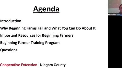 Thumbnail for entry Farming 101: Getting Started in Western NY