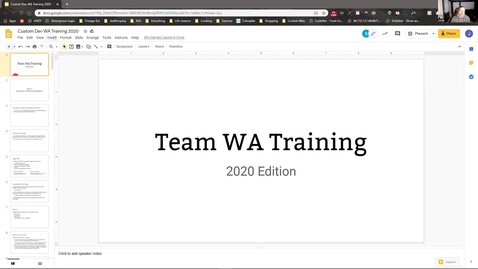 Thumbnail for entry WA training 041020