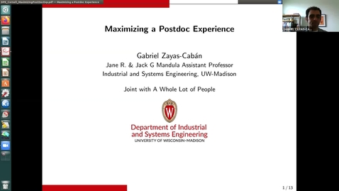 Thumbnail for entry Cornell DPE Sloan Lunch featuring Gabriel Zayas-Caban: Maximizing a Postdoc Experience 06Apr2021