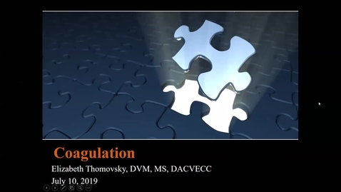 Thumbnail for entry Coagulation: ACVECC Exam Webinar July 10, 2019