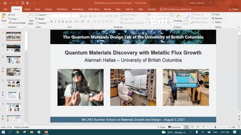 Thumbnail for entry PARADIM Summer School 2021 : Synthesis of Quantum Magnets