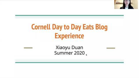 Thumbnail for entry Cornell Day to Day Eats Blog Experience