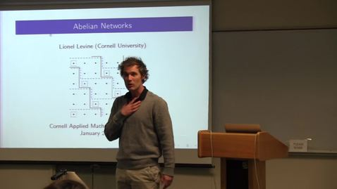 Thumbnail for entry CAM Colloquium, 2013-01-25 - Lionel Levine: Abelian Networks