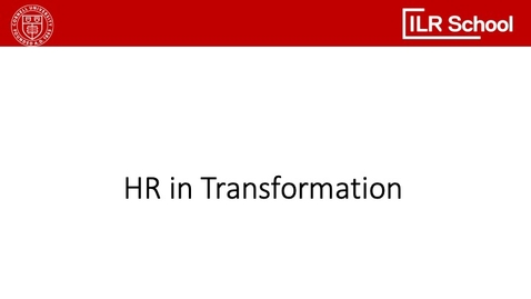 Thumbnail for entry HR in Transformation