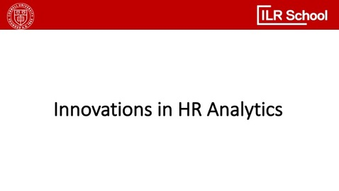 Thumbnail for entry Innovations in HR Analytics