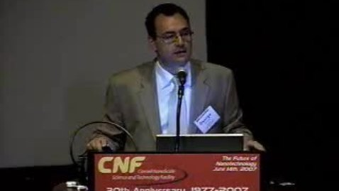 Thumbnail for entry CNF 30th Anniversary Welcoming Remarks - George Malliaras