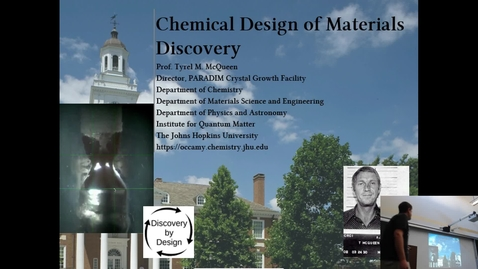 Thumbnail for entry Chemical Design of Materials Discovery (McQueen)(1 of 3)