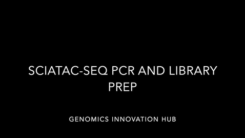 Thumbnail for entry snATACseq PCR and library prep