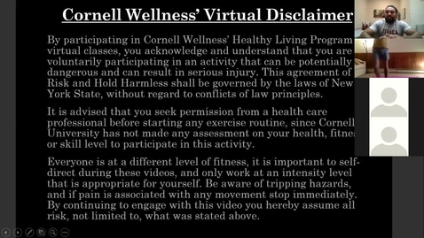 Thumbnail for entry Clip of Cornell Wellness Fall 2020 Bootcamp Class Series 2 Class #2*