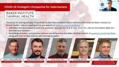 Thumbnail for entry COVID-19 – A Virologist's Perspective for Veterinarians - Part II