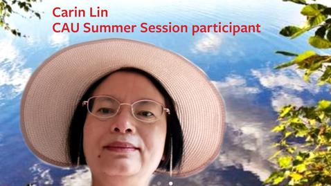 Thumbnail for entry Carin Lin on Kathy Arnink