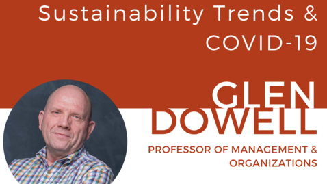 Thumbnail for entry Sustainability Trends, Prof. Glen Dowell