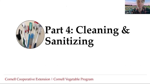 Thumbnail for entry Food Safety for Wash/Pack Facilities -Part 4: Cleaning and Sanitizing