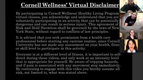 Thumbnail for entry Final Clip of Cornell Wellness Fall 2020 Bootcamp Class Series 2 Class #4