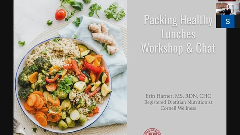 Thumbnail for entry Cornell Wellness' Packing Healthy Lunches Workshop
