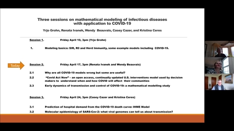 Thumbnail for entry Mathmatical Modeling of COVID II