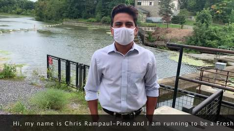 Thumbnail for entry Chris Rampaul-Pino - Freshman Representative Candidate (Fall 2020 Student Assembly Elections)
