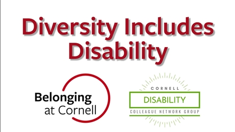 Thumbnail for entry Diversity Includes Disability: Interview with Aubrey Lang