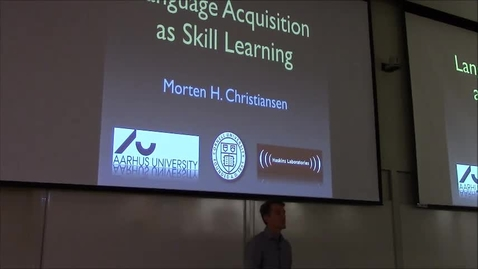 Thumbnail for entry Why language acquisition is like skill learning