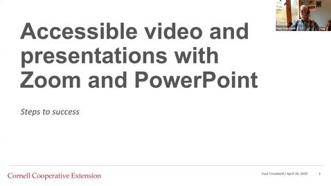 Thumbnail for entry Creating accessible video and presentations with Zoom and PowerPoint edited