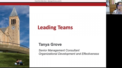 Thumbnail for entry Managers Forum 6/11 - Leading Teams