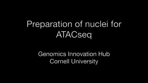 Thumbnail for entry Nuclei prep for ATACseq