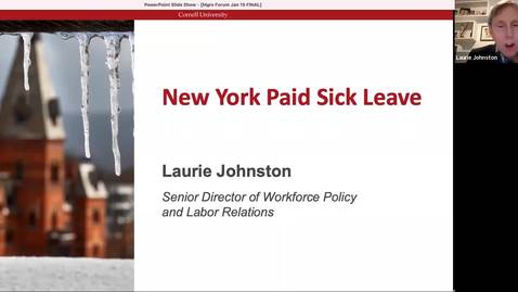 Thumbnail for entry Managers Forum 1/15 - New York Paid Sick Leave