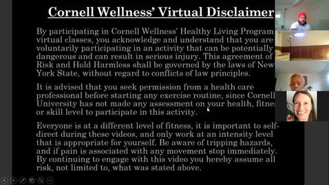 Thumbnail for entry Cornell Wellness Virtual Bootcamp Class #3