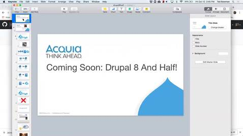 Thumbnail for entry DrupalCamp 2018: Coming soon, Drupal 8 and a half!