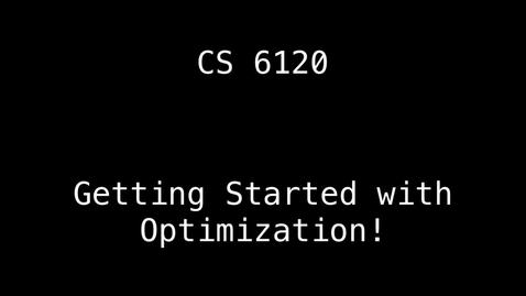 Thumbnail for entry CS 6120: Lesson 3: Local Optimization & Dead Code Elimination