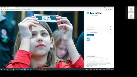 Thumbnail for entry Acumatica User Group Meeting, September 30, 2021