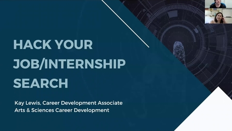 Thumbnail for entry Hack Your Summer Internship for CS/IS Majors- Fall 2021