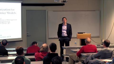 Thumbnail for entry CAM Colloquium, 2014-12-05 - Retsef Levi: Assortment Optimization for Non-parametric Choice Models