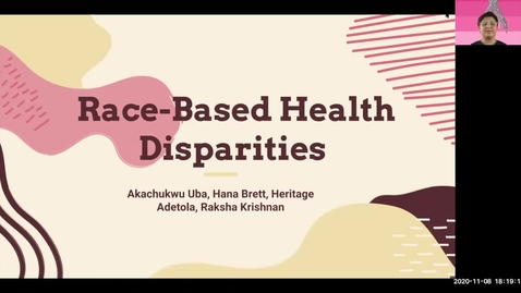 Thumbnail for entry Race-Based Health Disparities