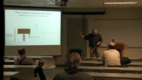 Thumbnail for entry CAM Colloquium, 2014-04-11 - Steve Shaw: Coupled Pendulums as Vibration Absorbers - How Nonlinear Dynamics Will Help Improve Automotive Fuel Economy